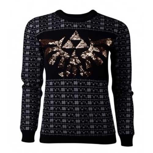 Zelda - Tri-Force Glitter Women's Christmas Jumper