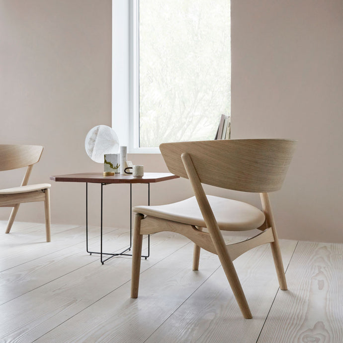 Sibast No 7 LOUNGE - SEAT UPHOLSTERED WITH WOODEN BACK