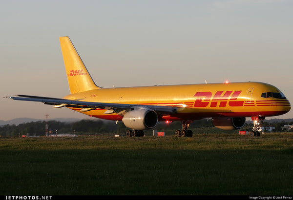 Boeing B757 with msn 23533 in DHL Livery