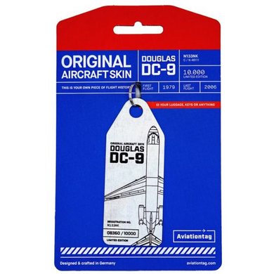 Aviationtag Original Aircraft Skin Tag Douglas DC-9
