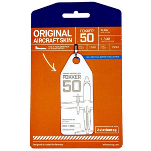 Aviationtag Original Aircraft Skin Tag Fokker 50 SAS Airlines