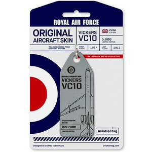 Aviationtag Original Aircraft Skin Tag Vickers VC-10 Royal Air Force