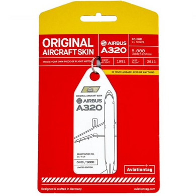 Aviationtag Original Aircraft Skin Tag Airbus A320 Iberia Airlines