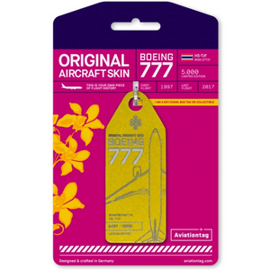 Aviationtag Original Aircraft Skin Tag Boeing B777 Thai Airways Gold