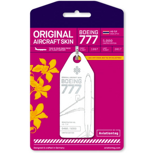Aviationtag Original Aircraft Skin Tag Boeing B777 Thai Airways White