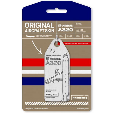Aviationtag Original Aircraft Skin Tag Airbus A320 China Eastern White