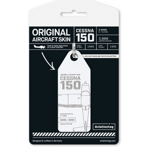 Aviationtag Original Aircraft Skin Tag Cessna 150 White