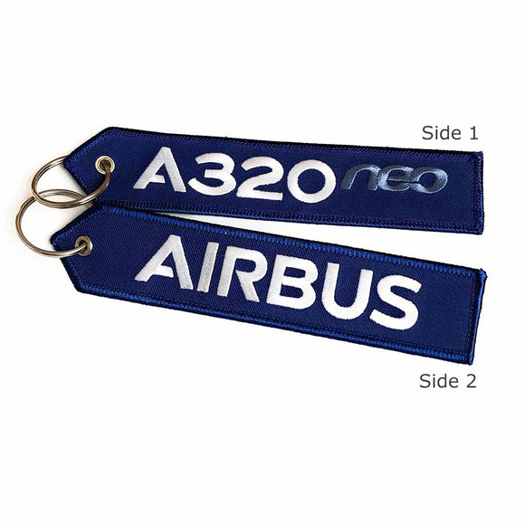 A320 neo Keychain - Luggage Tag - Navy/White - Airbus® | Aviamart
