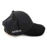 Airbus Baseball Cap Black and Grey