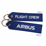 "Airbus ""Flight Crew"" Keychain - Luggage Tag - Navy/White - Airbus® 