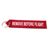 "Airbus ""REMOVE BEFORE FLIGHT"" Licenced Keychain - Luggage Tag - Red/White - Airbus®"