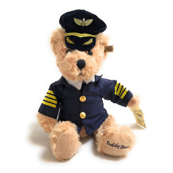 Soft Toy Airline Pilot Teddy Bear | Small (25 cm) | Stuffed Toy | Bear Pilot