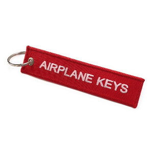 Airplane Keys | Keychain | Luggage Tag | Red / White