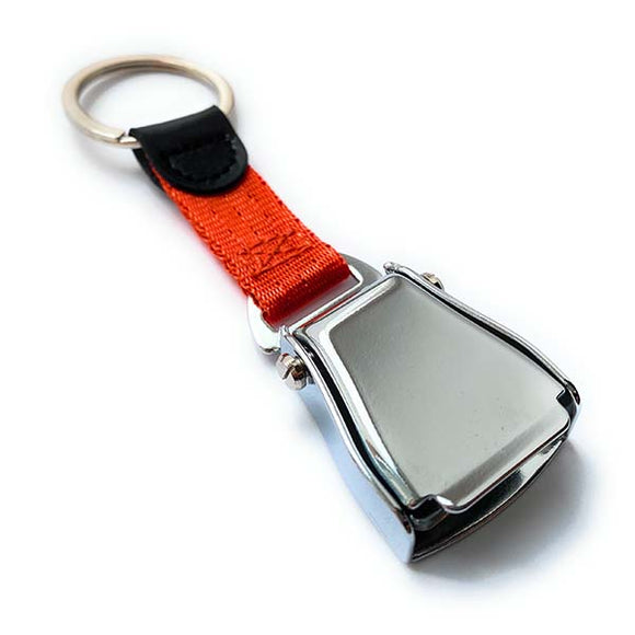 Airplane Seat Belt Keychain | Orange | Shiny Finish | Aviamart