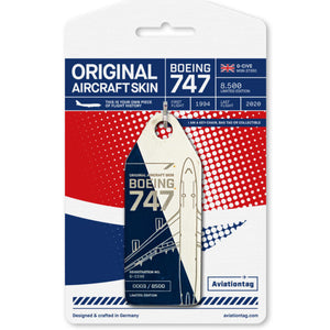 Aviationtag Boeing B747 - White / Blue (British Airways) G-CIVE