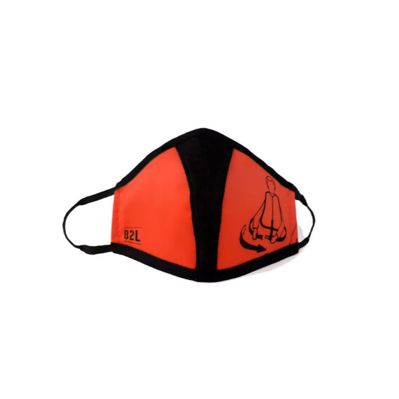 Bag To Life Travel Face Mask - Adult - Orange - aviamart