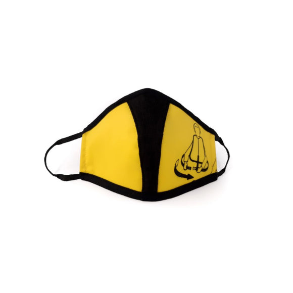 Bag To Life Travel Face Mask - Adult - Yellow - aviamart