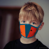 Bag To Life Travel Face Mask - Child - Orange | Aviamart