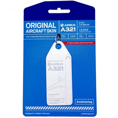 Aviationtag Original Aircraft Skin Tag Airbus A321 Metro Jet