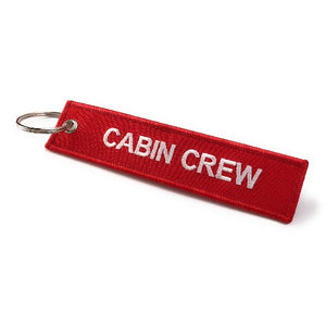 Cabin Crew / Do Not Remove From Aircraft Luggage Tag | Red /White