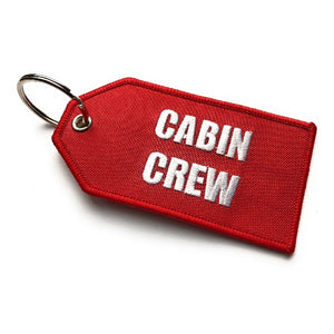 Cabin Crew / Do Not Remove From Aircraft Luggage Tag | Medium | Red / White | Aviamart