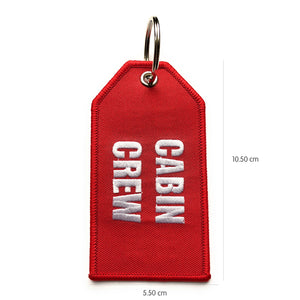 Cabin Crew / Do Not Remove From Aircraft Luggage Tag | Medium | Red / White