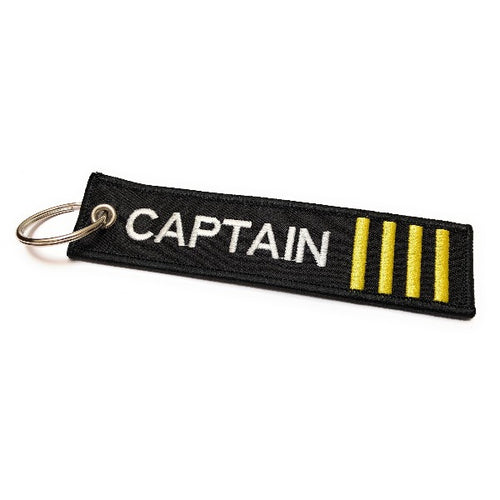 Captain Luggage Tag | Keychain | 4 Gold Stripes