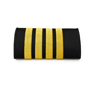 Captain Luggage Handle Wrap with 4 Gold Stripes | Aviamart