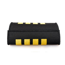 Captain Luggage Handle Wrap with 4 Gold Stripes