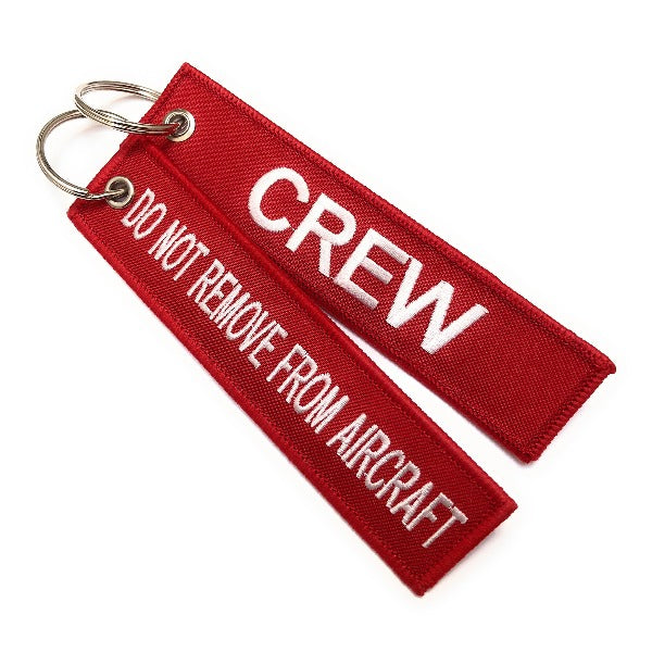 Crew / Do Not Remove From Aircraft | Luggage Tag | Red /White