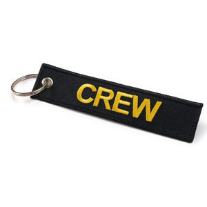 Crew Tag | Black/Yellow |100% Embroidered