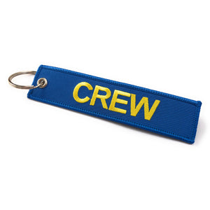 Crew Tag | Blue/Yellow | 100% Embroidered | Aviamart