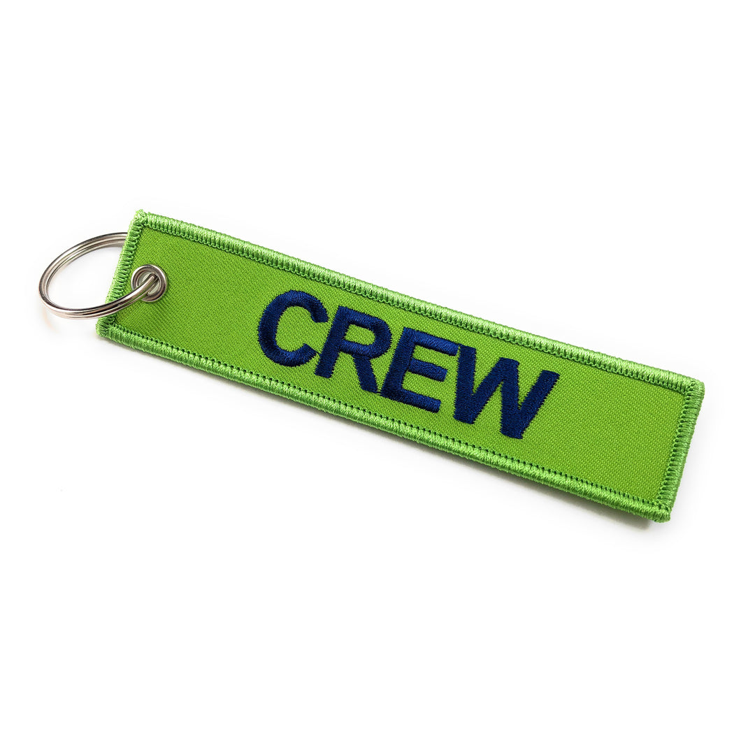 Crew Tag | Funky/Green Blue | 100% Embroidered | Aviamart
