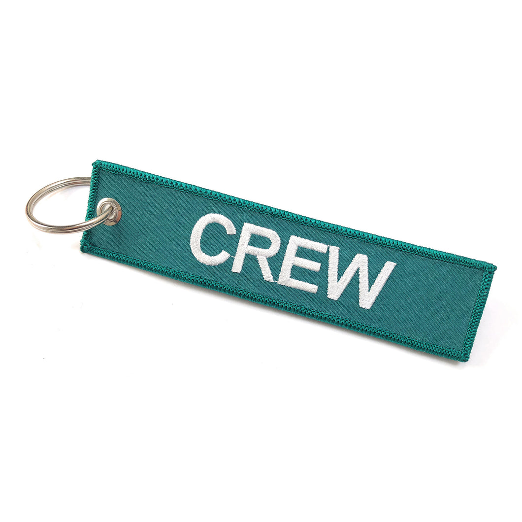 Crew Tag | Green/White |100% Embroidered
