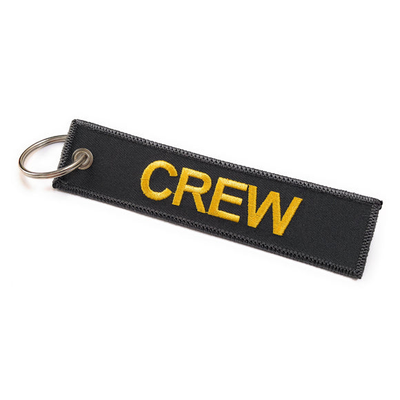 Crew Tag | Grey/Yellow | 100% Embroidered | Aviamart