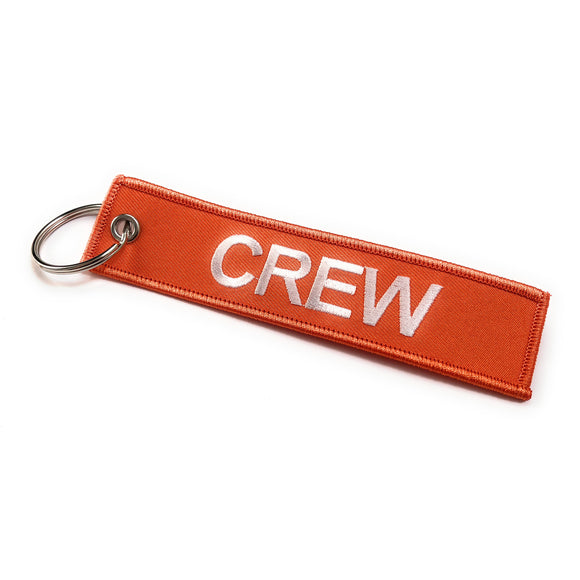 Crew Tag | Orange/White | 100% Embroidered | Aviamart