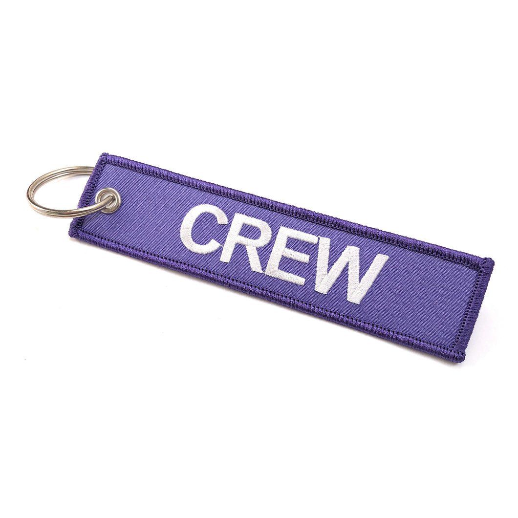 Crew Tag | Purple/White |100% Embroidered