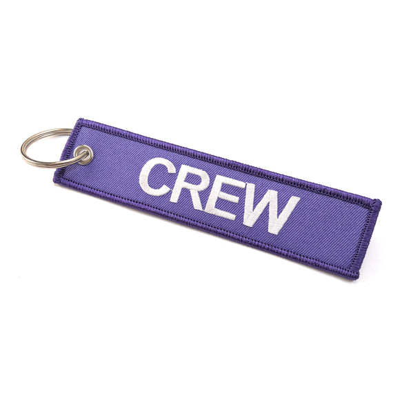 Crew Tag | Purple/White | 100% Embroidered | Aviamart