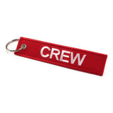 Crew Tag | Red/White | 100% Embroidered | Aviamart