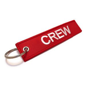 Crew Tag | Red/White |100% Embroidered