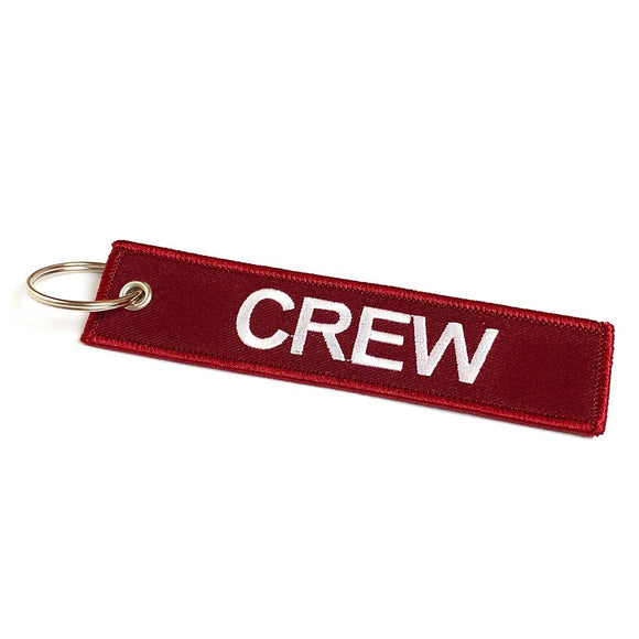 Crew Tag | Cherry Red | 100% Embroidered | Aviamart