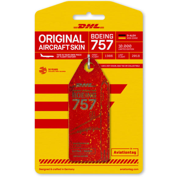 Aviationtag Boeing B757 - Red (DHL Airlines) Reg. No: D-ALEH - aviamart