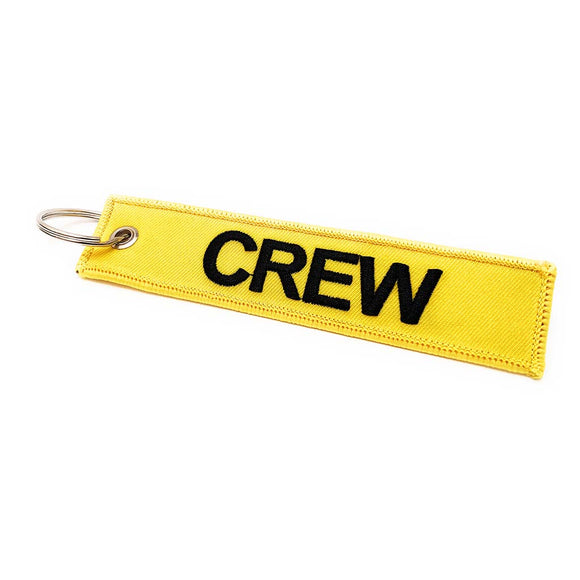 Embroidered Crew Luggage Tag - Yellow / Black | Aviamart