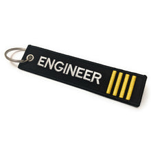 Engineer Luggage Tag| Keychain | 4 Stripes Gold