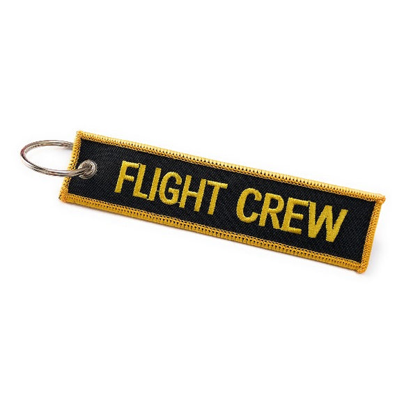 Flight Crew / Do Not Remove From Aircraft | Luggage Tag | Black / Yellow | Aviamart