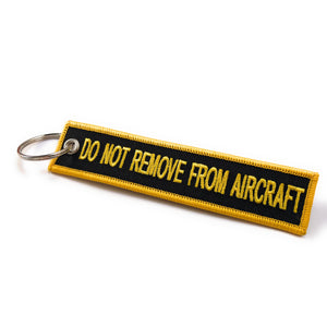 Flight Crew / Do Not Remove From Aircraft | Luggage Tag | Black / Yellow
