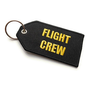 Flight Crew / Do Not Remove From Aircraft Luggage Tag | Medium | Black Yellow | Aviamart