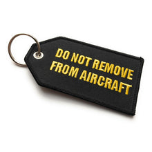 Flight Crew / Do Not Remove From Aircraft Luggage Tag | Medium | Black Yellow