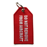 Flight Crew / Do Not Remove From Aircraft Luggage Tag | Medium | Red / White - aviamart