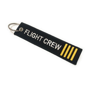 Flight Crew Luggage Tag | Keychain | 4 Stripes Gold